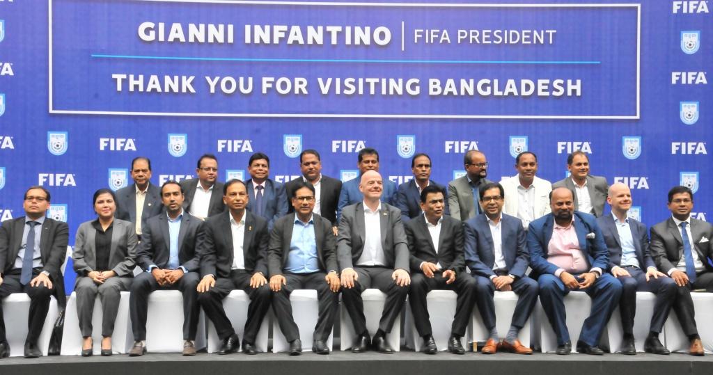 FIFA President Gianni Infantino's maiden visit to Bangladesh