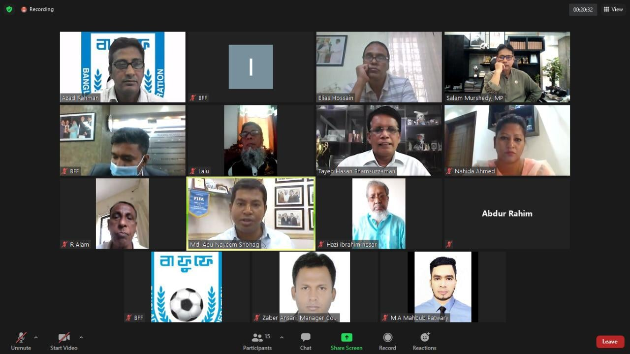 The 3rd regular meeting of the Referees Committee of BFF was done virtually