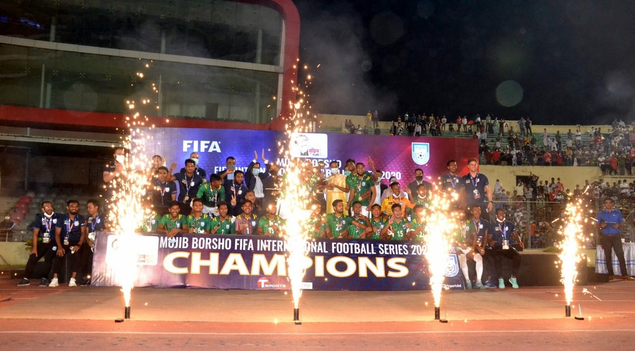 "Bangladesh won against Nepal in ""Mujib Borsho FIFA International Football Series 2020"""