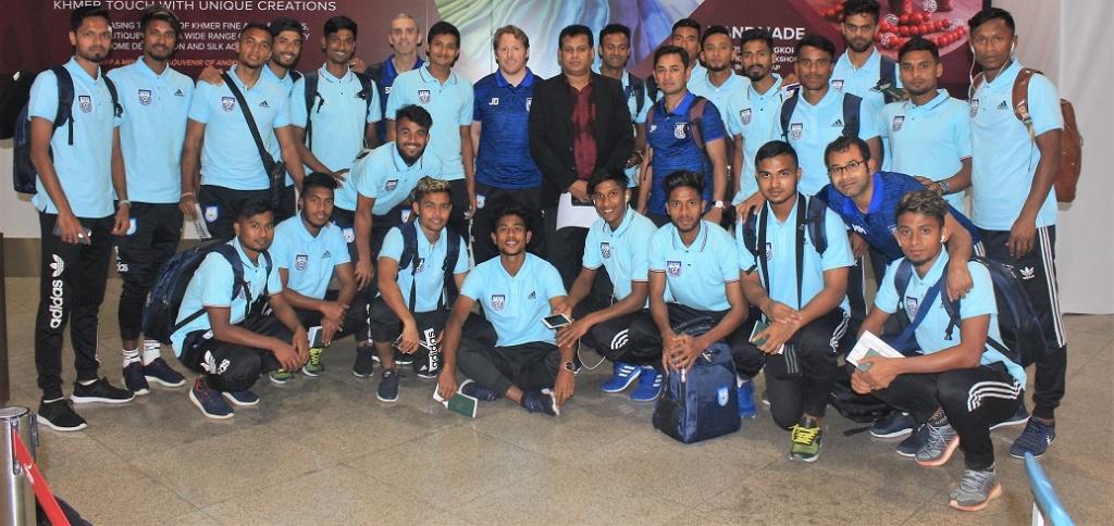 Bangladesh team reaches Cambodia