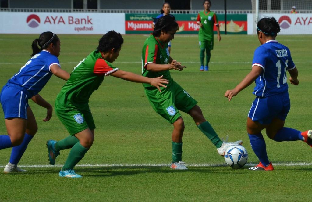 U16 girls thrash Philippines 10-0
