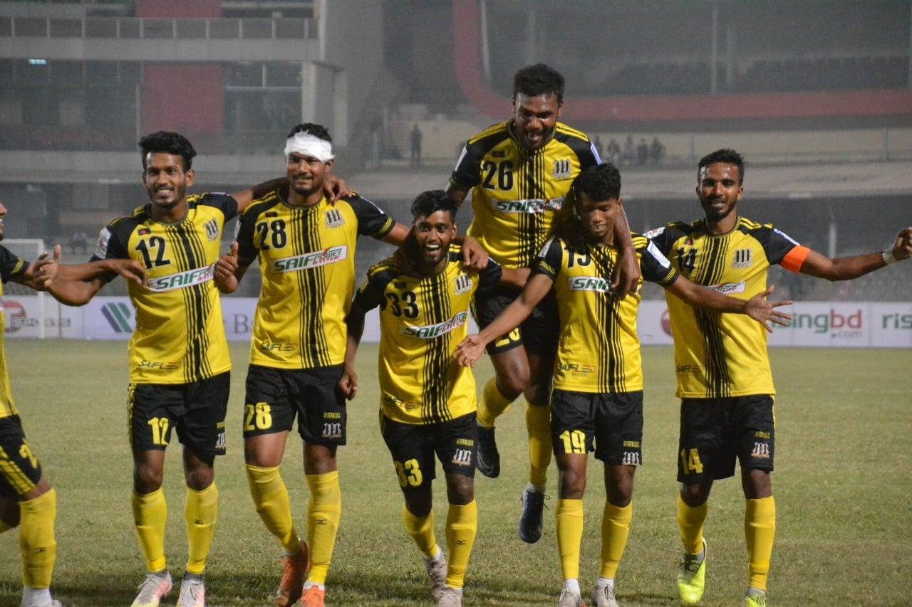 Saif Sporting Club wins against Arambagh KS