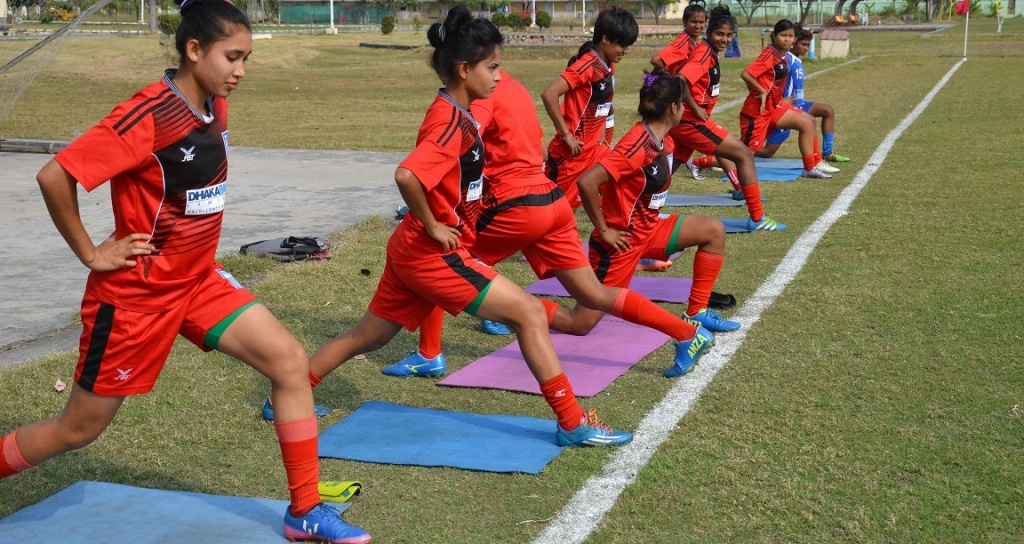 Senior girls busy training for SAFF Championship