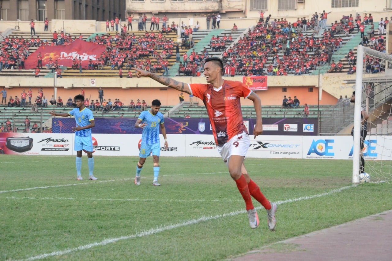 Bashundhara Kings defeated Abahani Ltd. Dhaka
