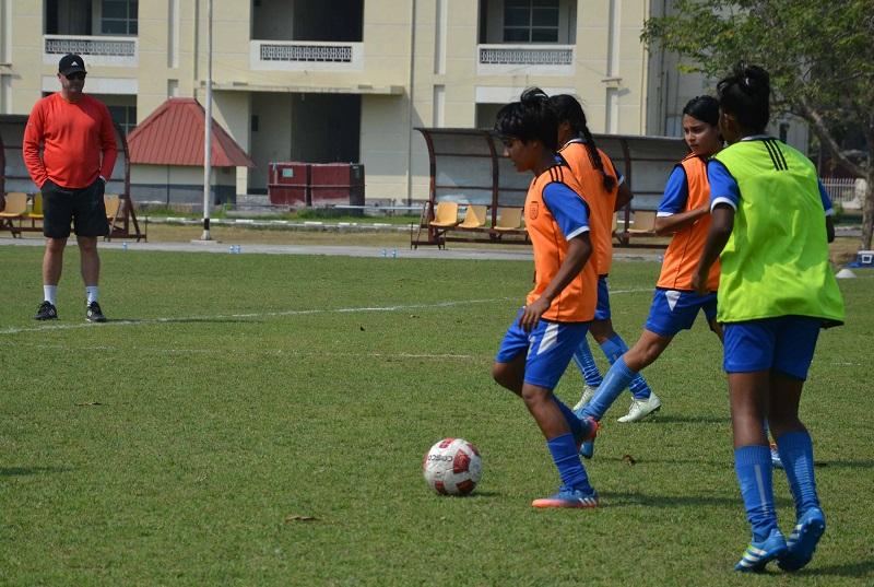 U16 girls training hard ahead of the AFC qualifiers
