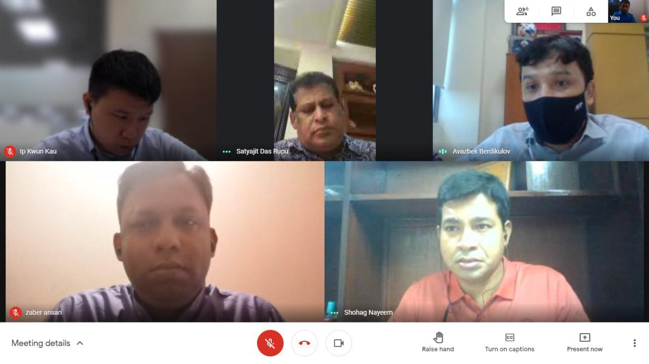 BFF arranges a Virtual Meeting with AFC & Abahani Ltd