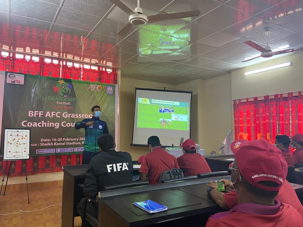 BFF-AFC Grassroots Coaching Course 2021 at Nilphamari