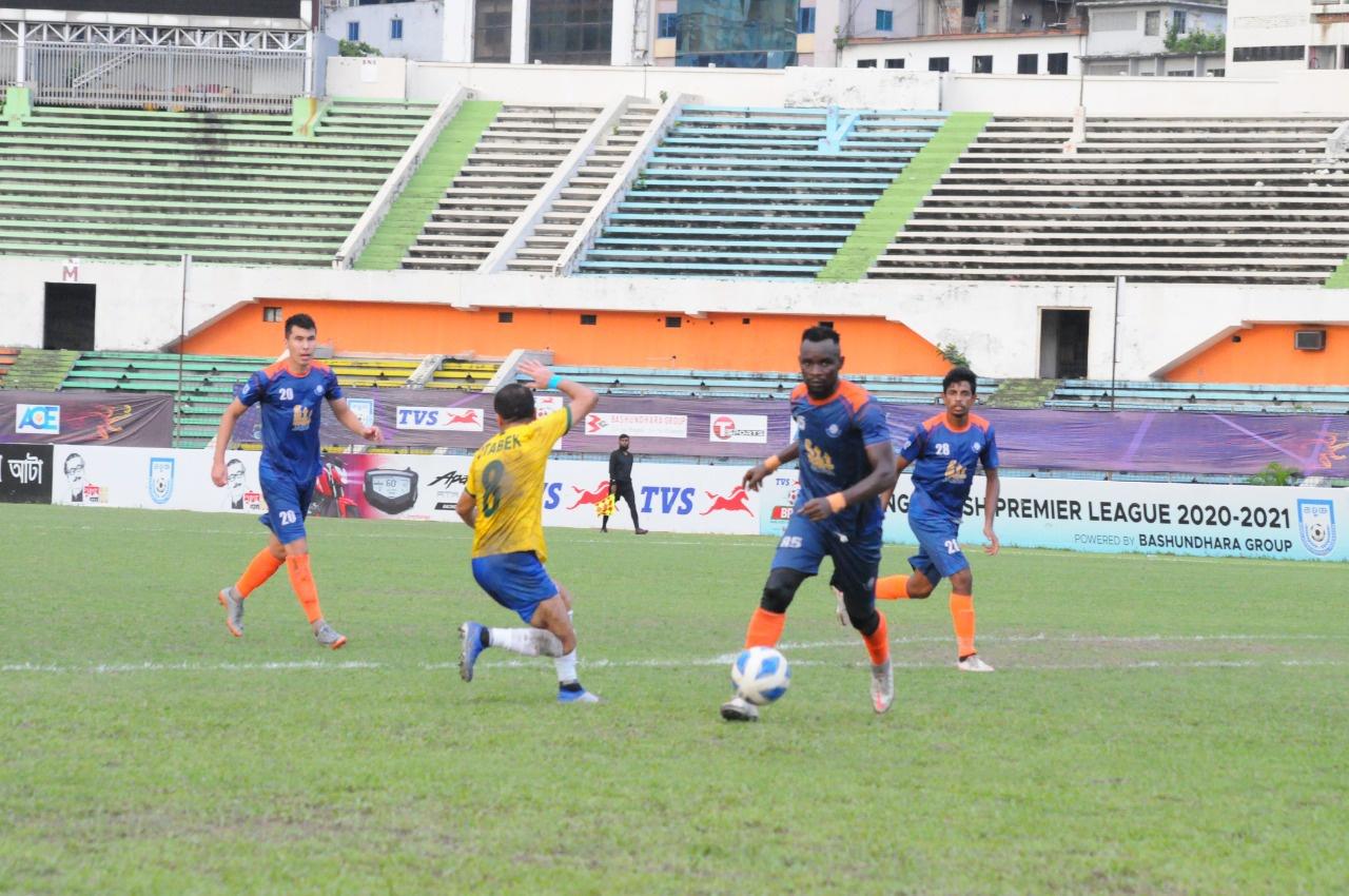 Lt. Sheikh Jamal DC Ltd. and Brothers Union Ltd. draws the match