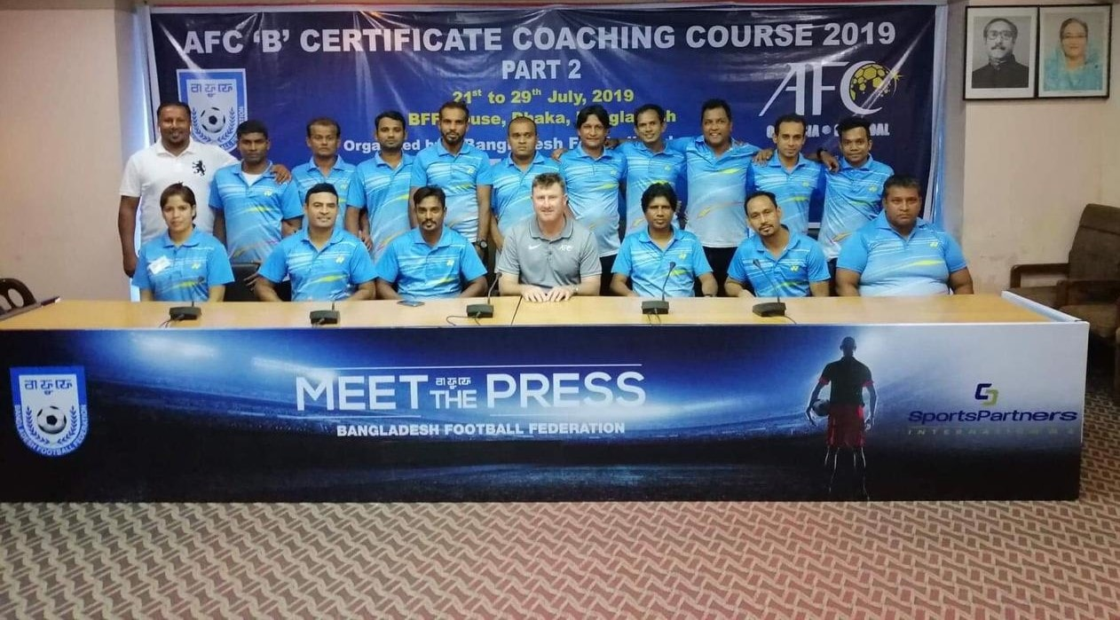 AFC B Certificate Coaching Course ends with flying colours
