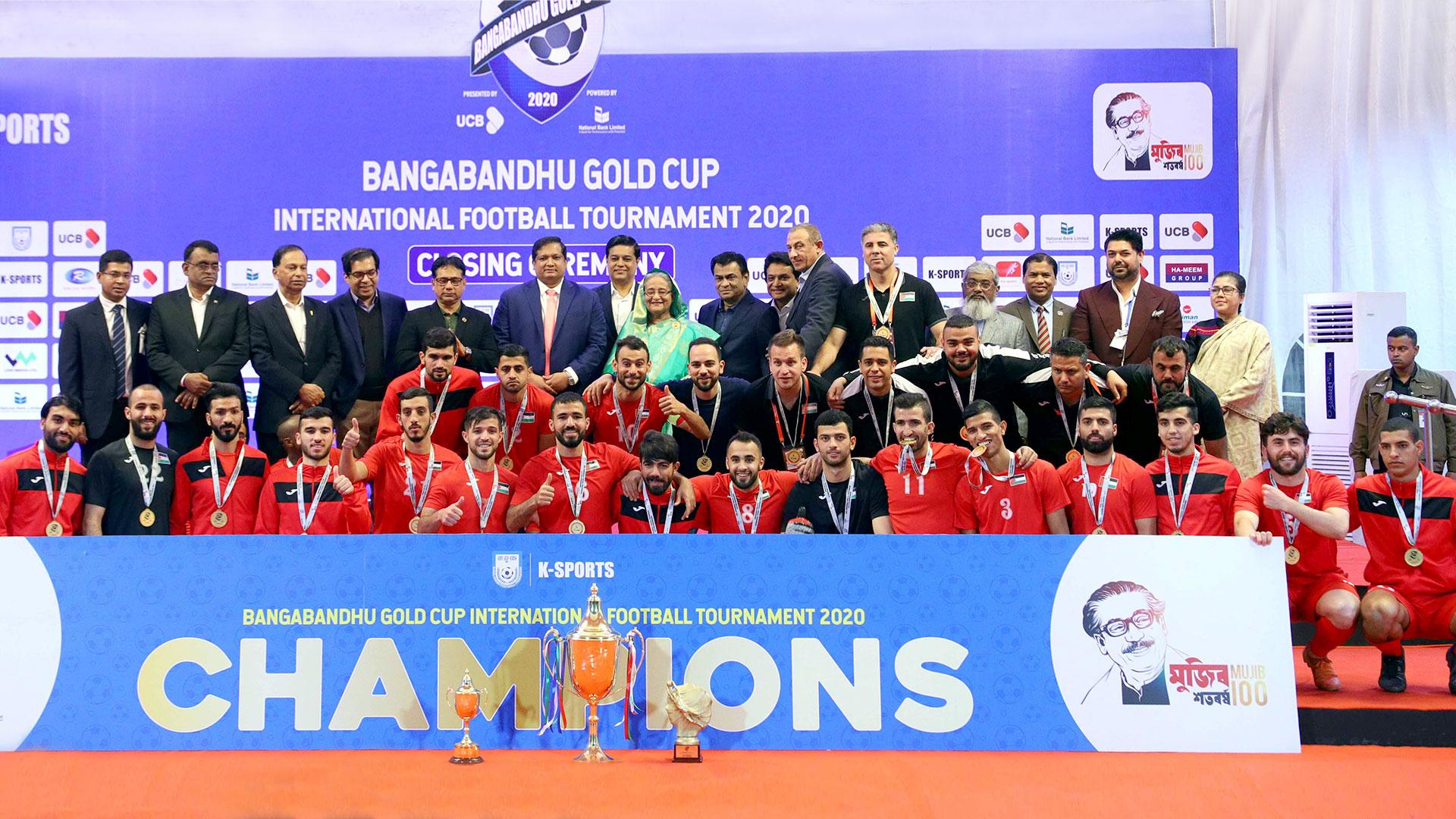 Palestine retains Bangabandhu Gold Cup 2020