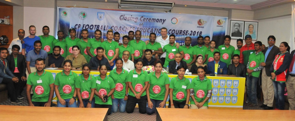 Closing ceremony of CP Football Coaches Education Course held