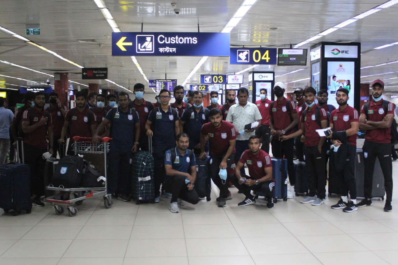Bangladesh national football team arrived in Dhaka today
