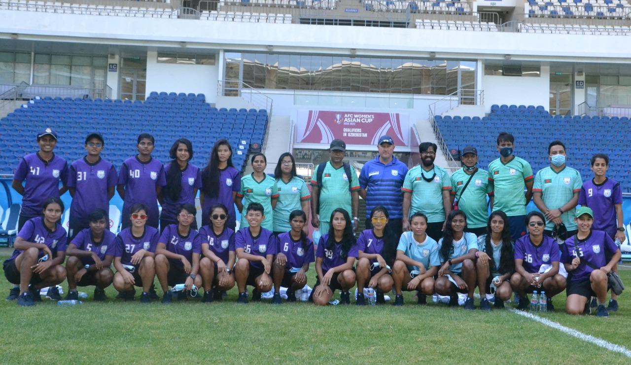 Bangladesh women's national football team preparing for upcoming matches