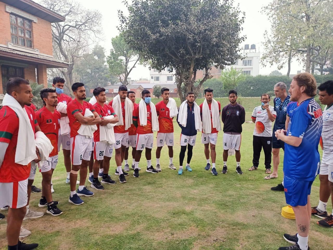 Bangladesh National Football Team preparing themselves for final