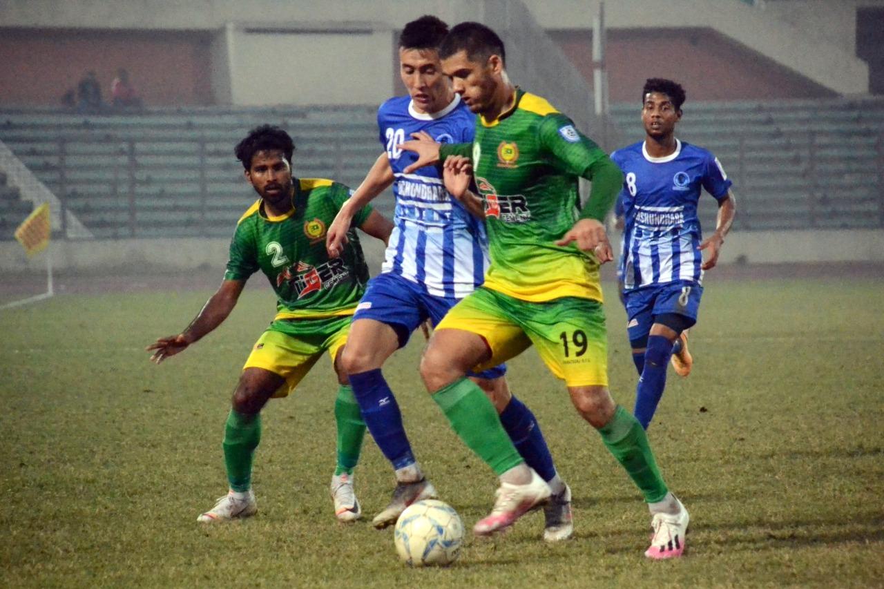 Sheikh Russel KC Ltd. won by 1 goal