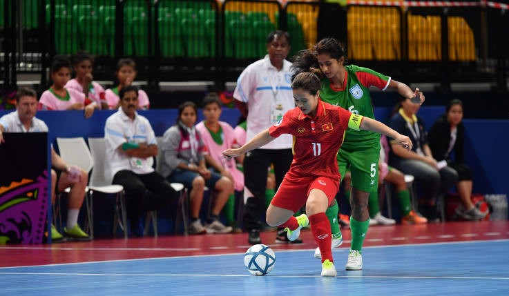 AFC Women's Futsal: BD concede 7 against strong Vietnam