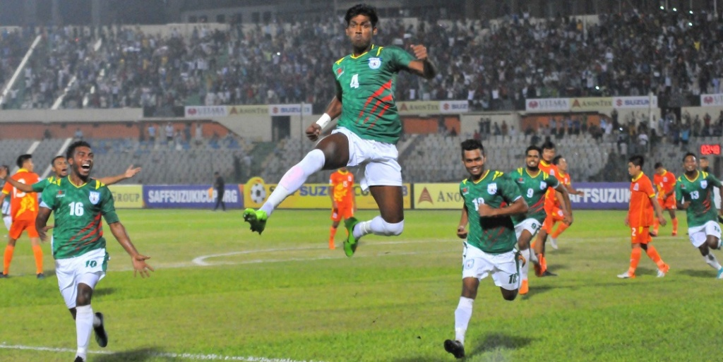 BD off to winning start in SAFF beating Bhutan 2-0