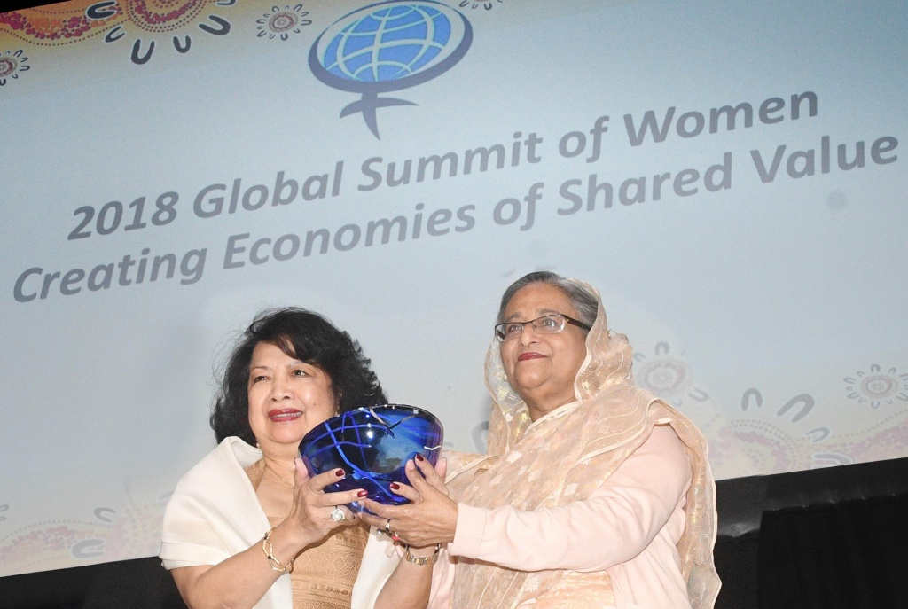 BFF congratulates PM on winning Global Women's Leadership Award
