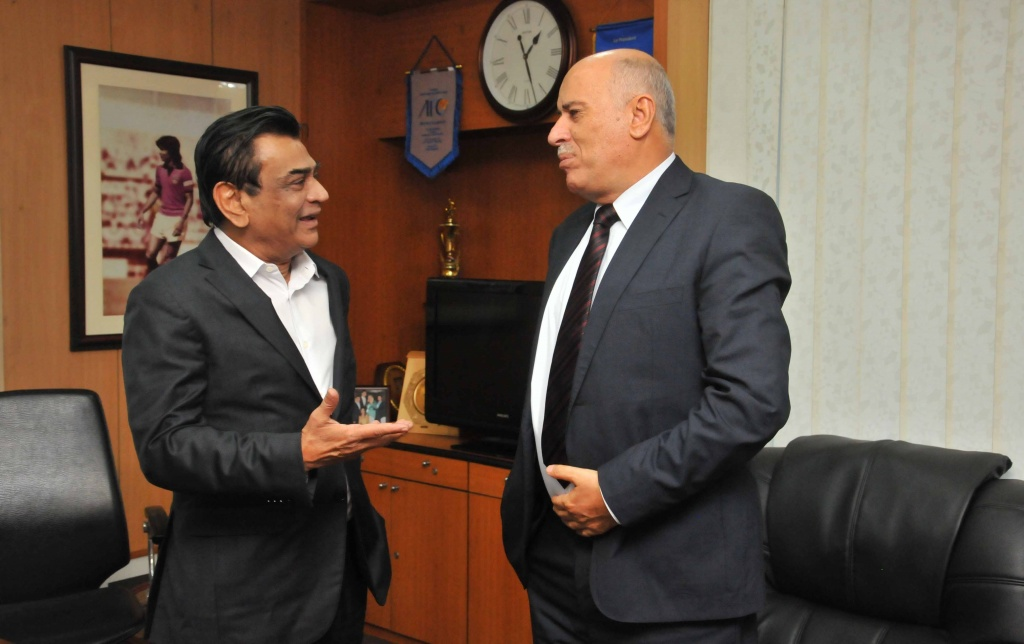 Palestine Football Federation President calls on BFF President