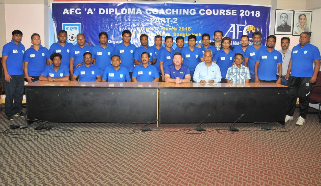 BFF AFC 'A' Diploma Coaching Course sees successful completion