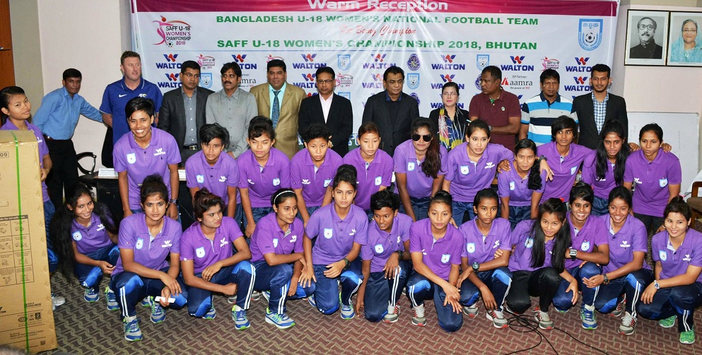 U18 girls get grand reception