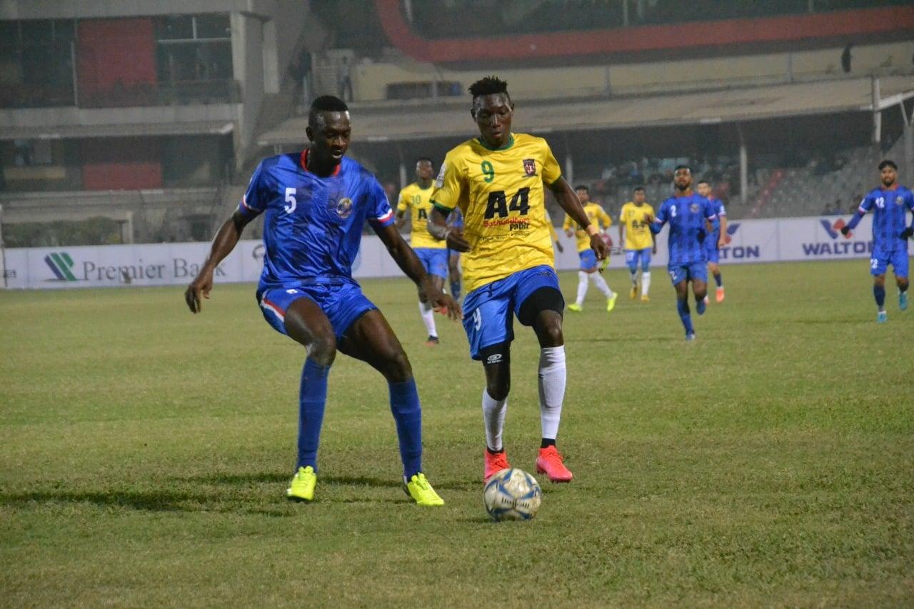 Bangladesh Police FC draws the match with Lt. Sheikh Jamal DC