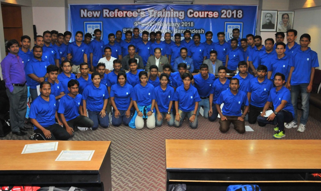 New Referee's Training Course 2018 concludes