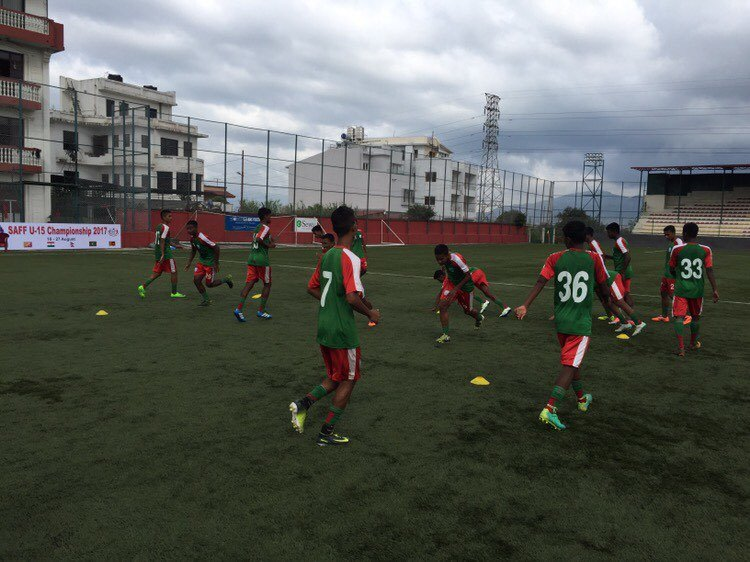 U15 boys raring to go for SAFF semi-final