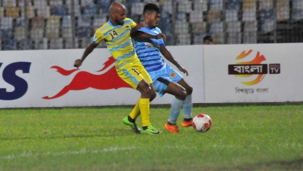 Dhaka Abahani, Ctg Abahoni play out 2-2 draw