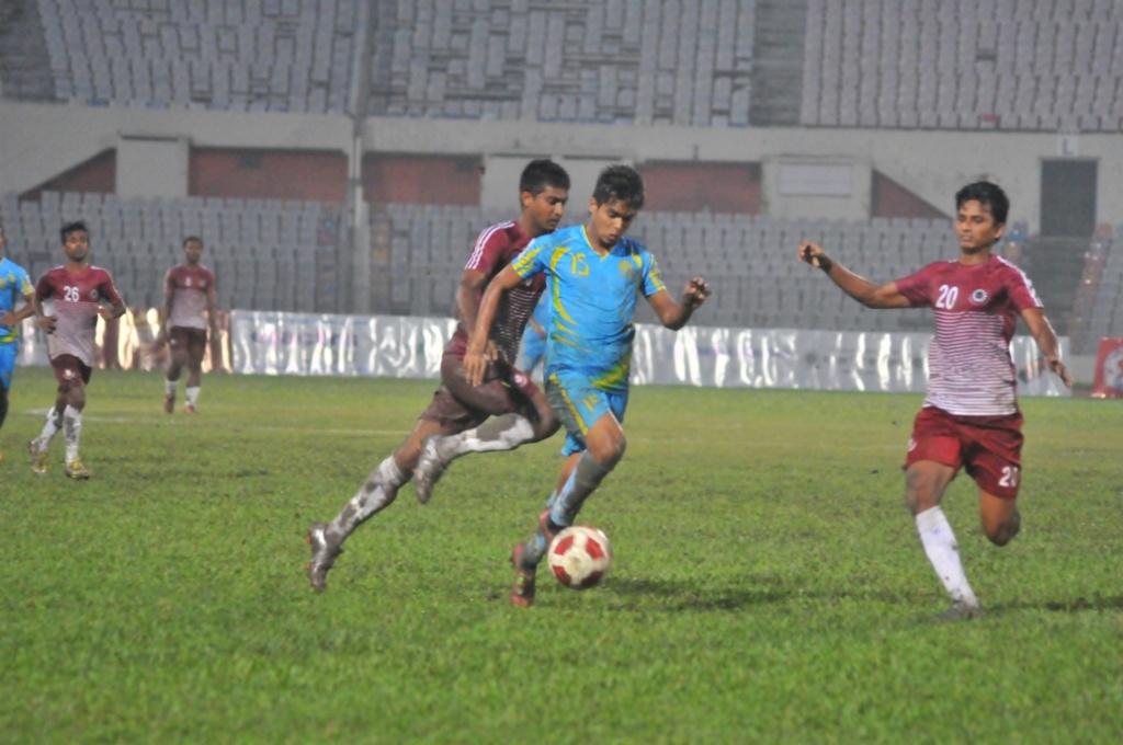 BJMC hold Abahani to goalless draw