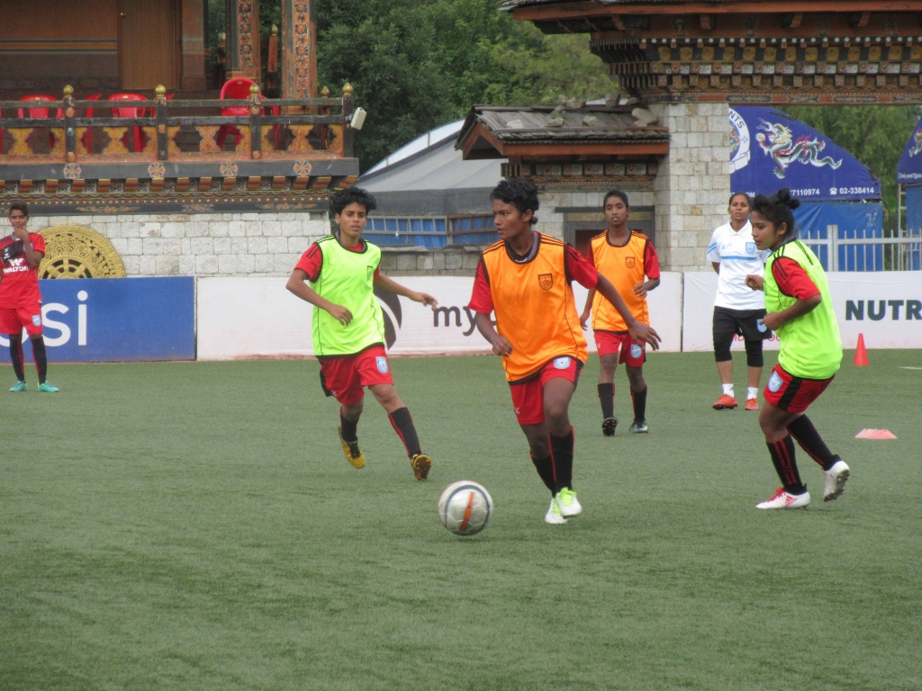 Girls fired up for facing Bhutan in the semis