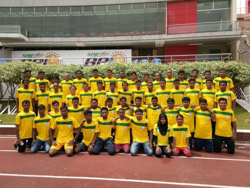 Referees' fitness test held at BNS
