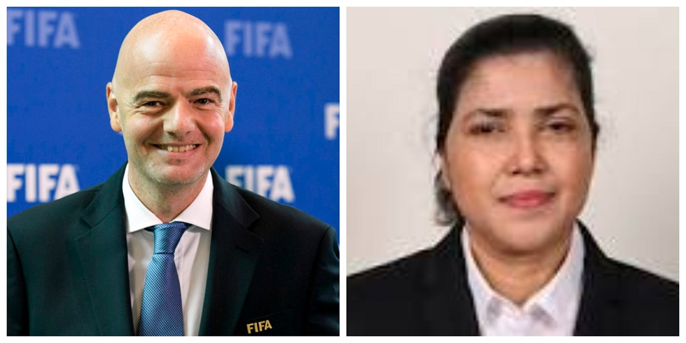 FIFA President congratulates Kiron on re-election