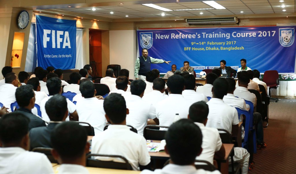 BFF starts Referee's Refresher Course