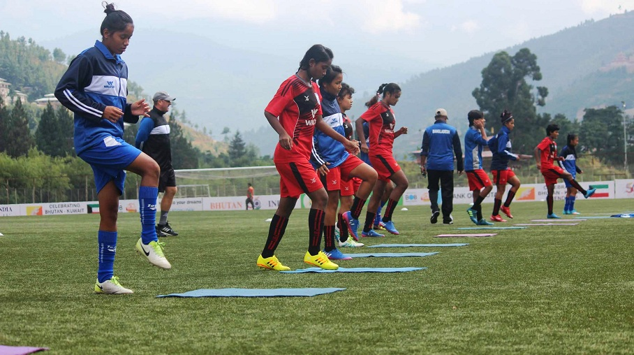 U18 girls gear up to face Nepal in SAFF final