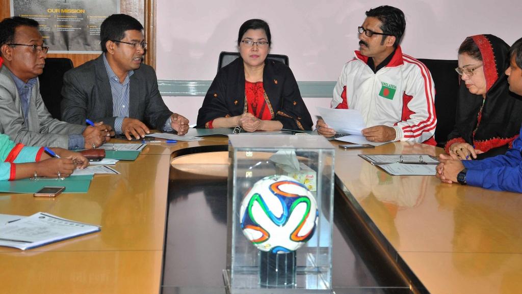 Press meet before SAFF U15 Women's Championship