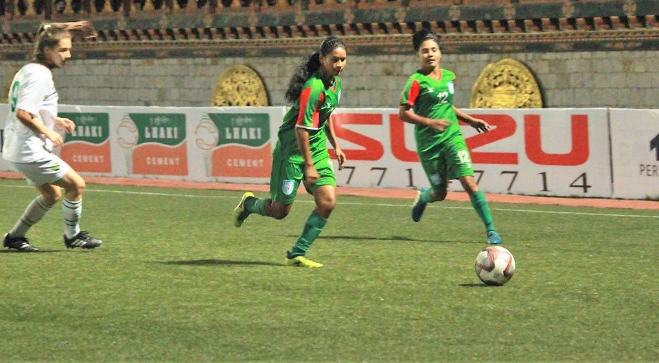 SAFF: U18 girls dismantle Pakistan 17-0