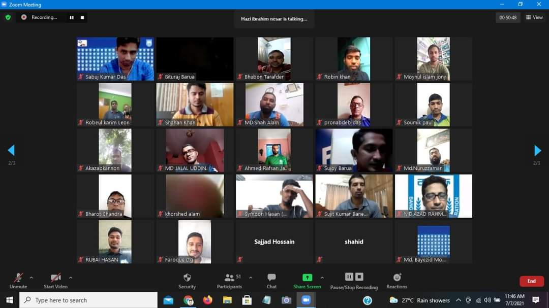 Referees Department of Bangladesh Football Federation arranged a virtual meeting today