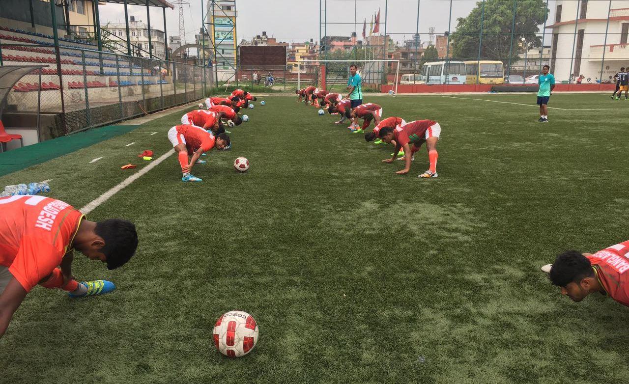 U23 trains hard in Nepal