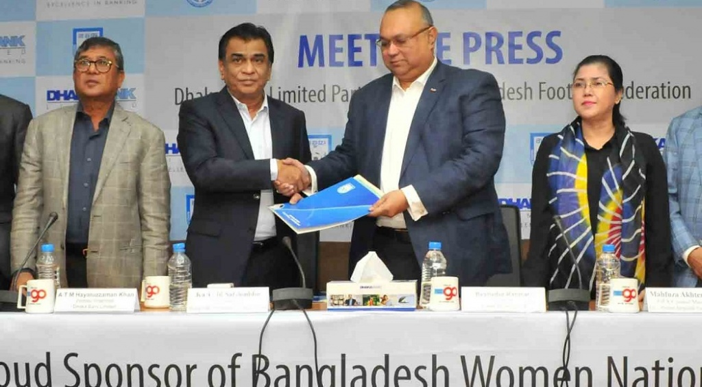 BFF signs women's football sponsorship deal with Dhaka Bank