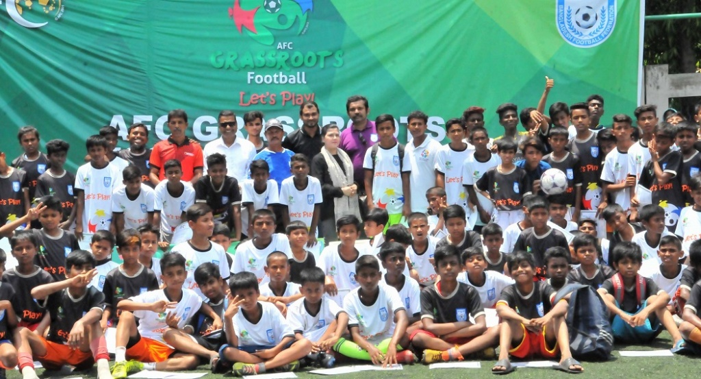 Children celebrate AFC Grassroots Football Day at BFF