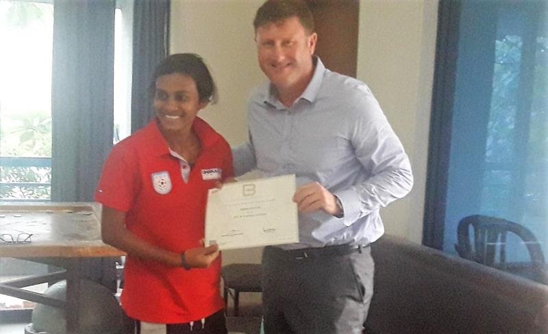 Sabina Khatun receives AFC B Certificate Coaching License