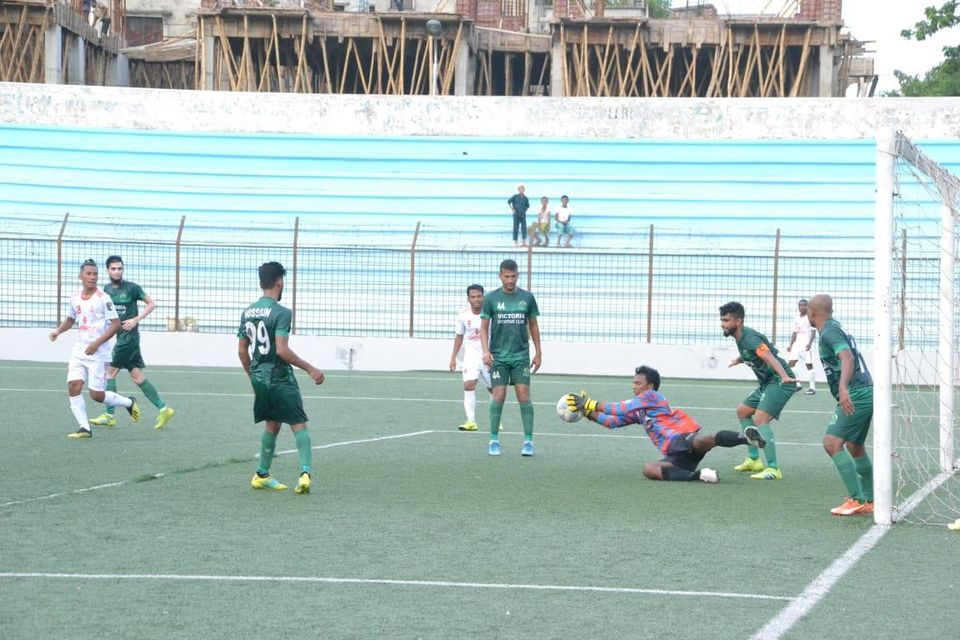 Dhaka defeated Victoria Sporting Club, Dhaka by 3-1 goals