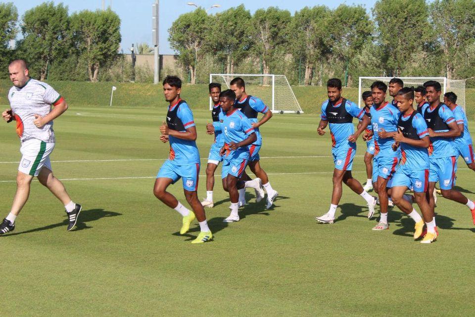 Bangladesh National Football team is prepping for Oman Match