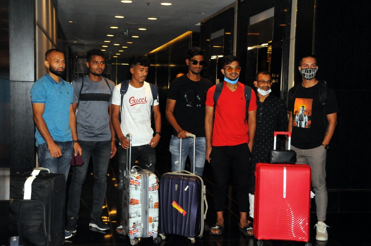 32 selected players from Bangladesh national football team arrived today