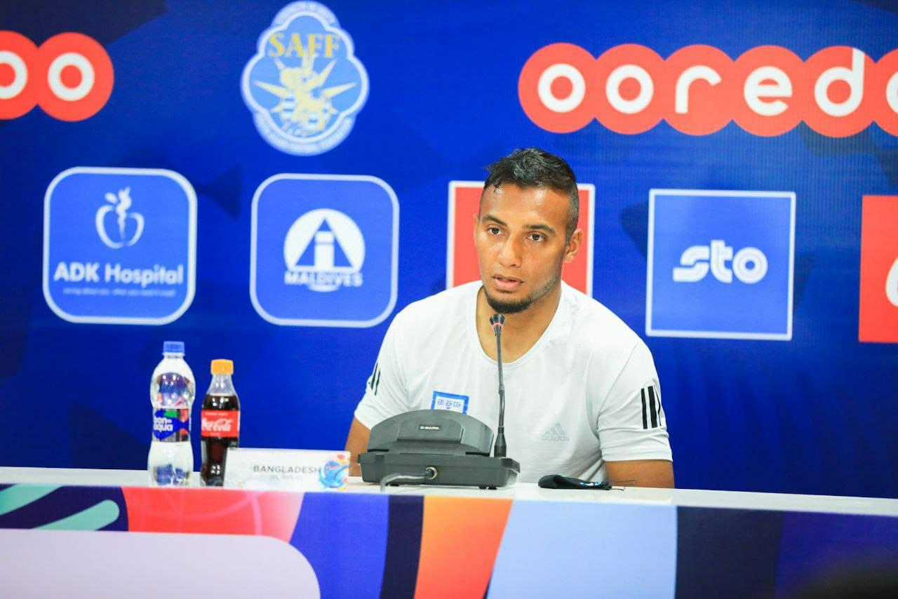 Bangladesh captain Jamal Bhuyan and head coach Óscar Bruzón attended pre-match press conference