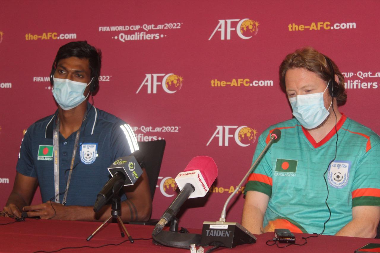 Head coach Jamie Day speaks to press about tomorrow's Bangladesh Vs Oman Match
