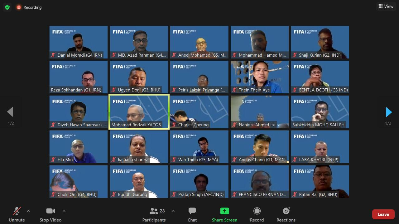 """""""FIFA Futuro iii"""" course was held on the online platform from 09 August 2021 to 12 August 2021"""